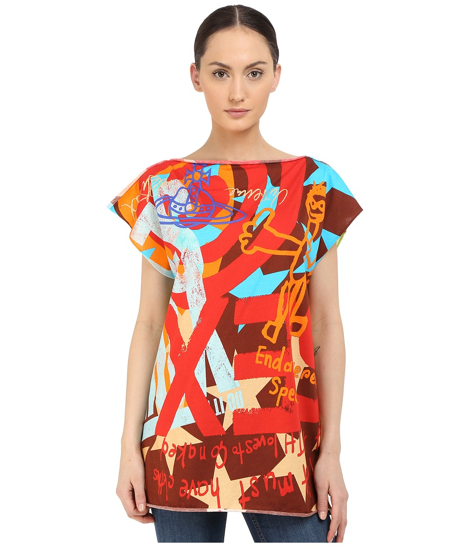 Vivienne Westwood - Printed SS T-Shirt (Red) Scarves