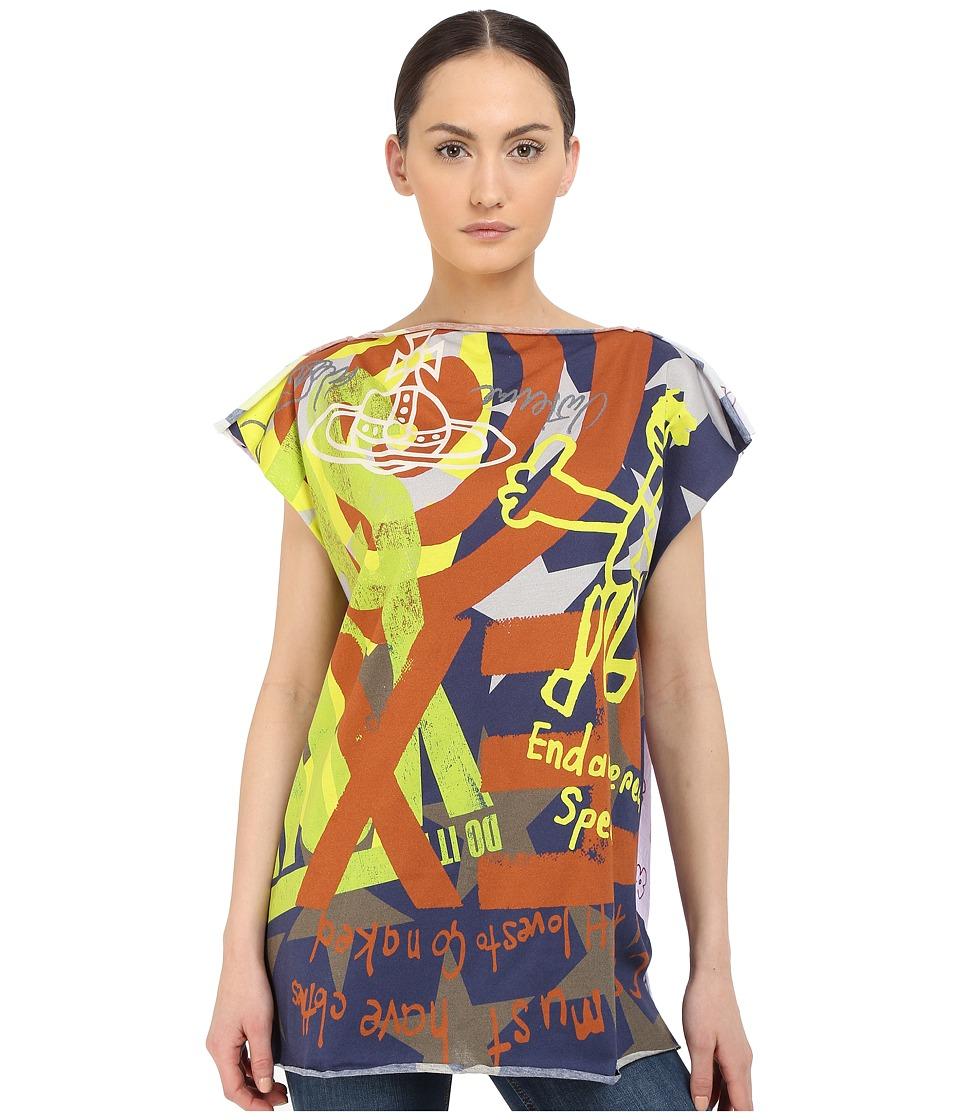 Vivienne Westwood - Printed SS T-Shirt (Navy) Scarves