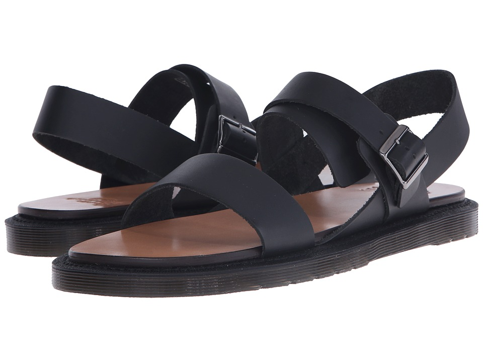 Dr. Martens - Kennet 3-Strap Sandal (Black Semi Chromo) Men