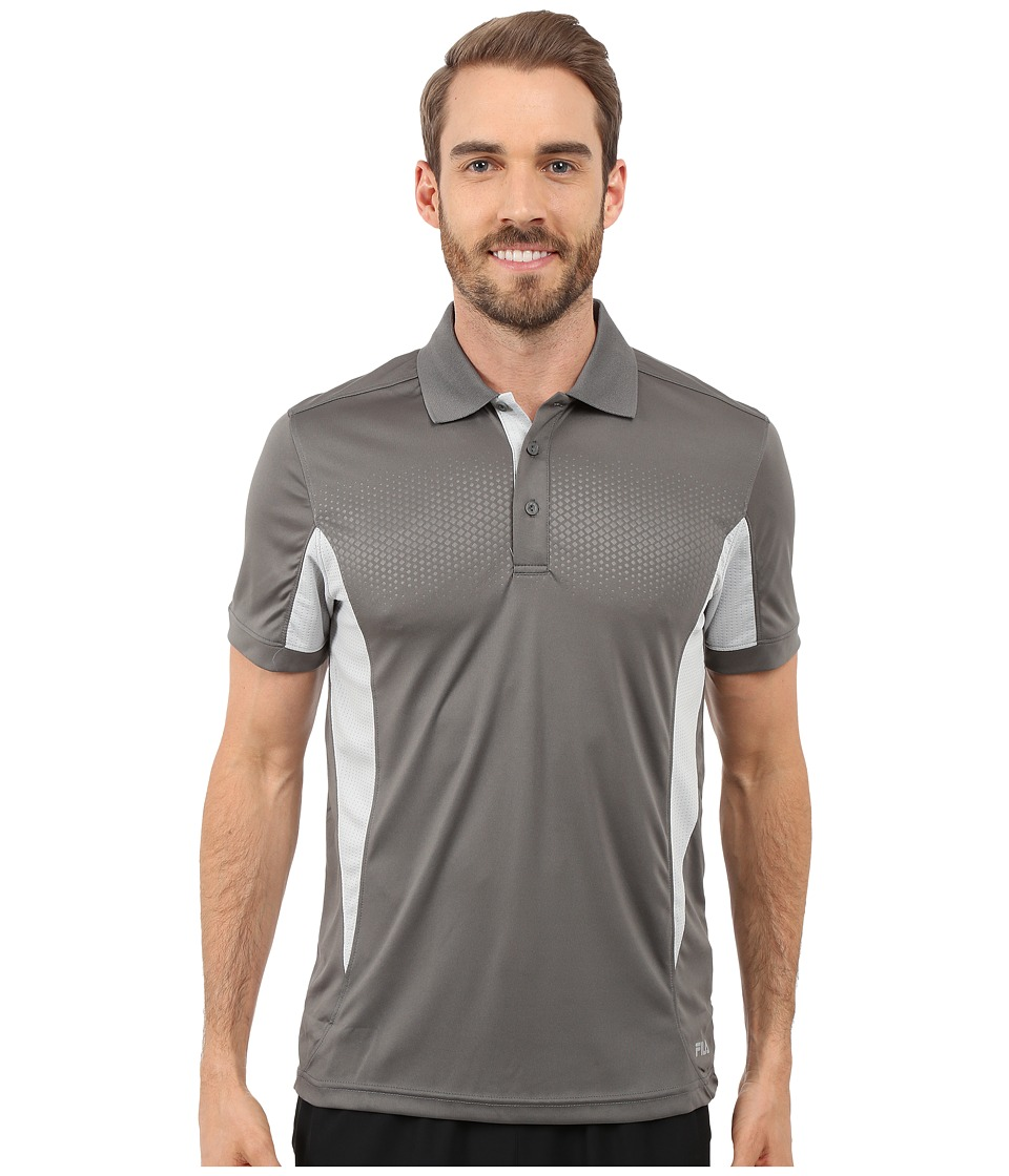 Fila - Depth Polo (Pewter/High Rise) Men's Short Sleeve Knit