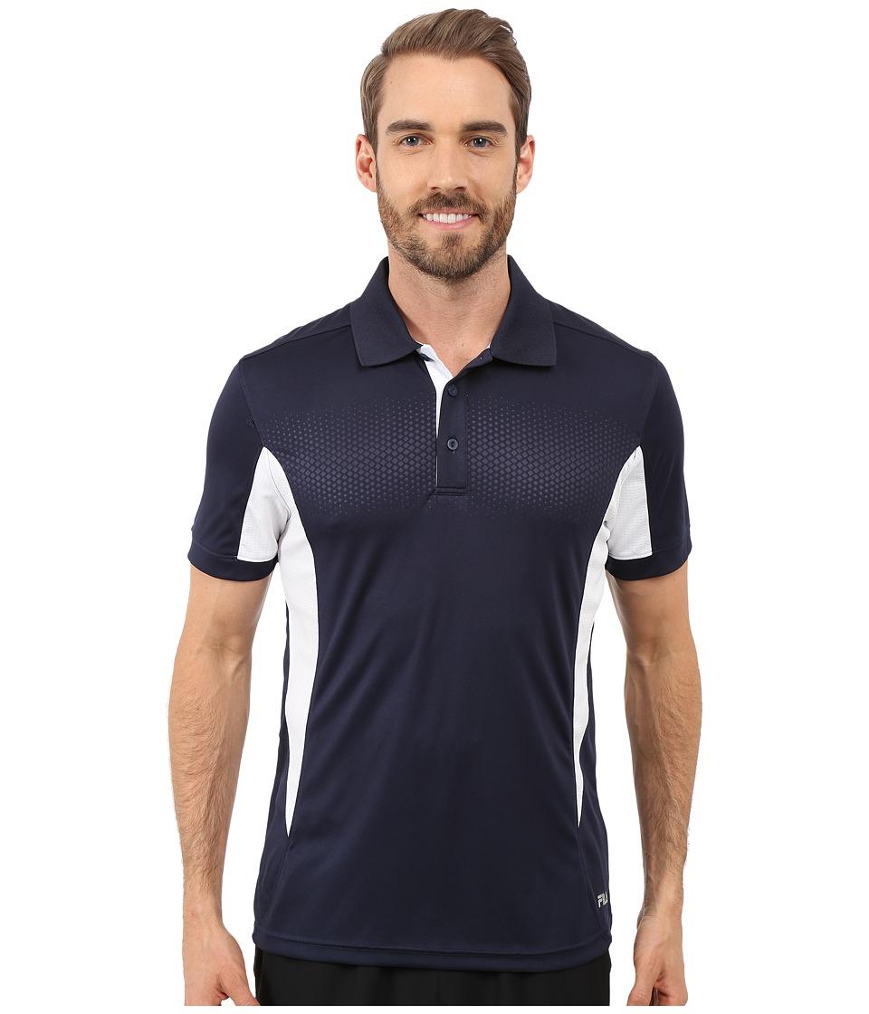 Fila - Depth Polo (Peacoat/White) Men's Short Sleeve Knit