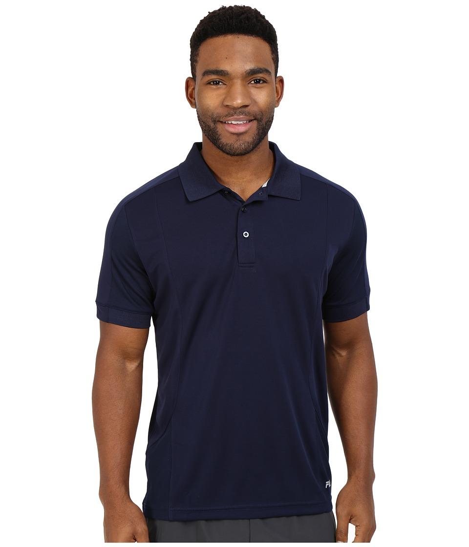 Fila - Bravo Polo (Peacoat) Men's Short Sleeve Knit