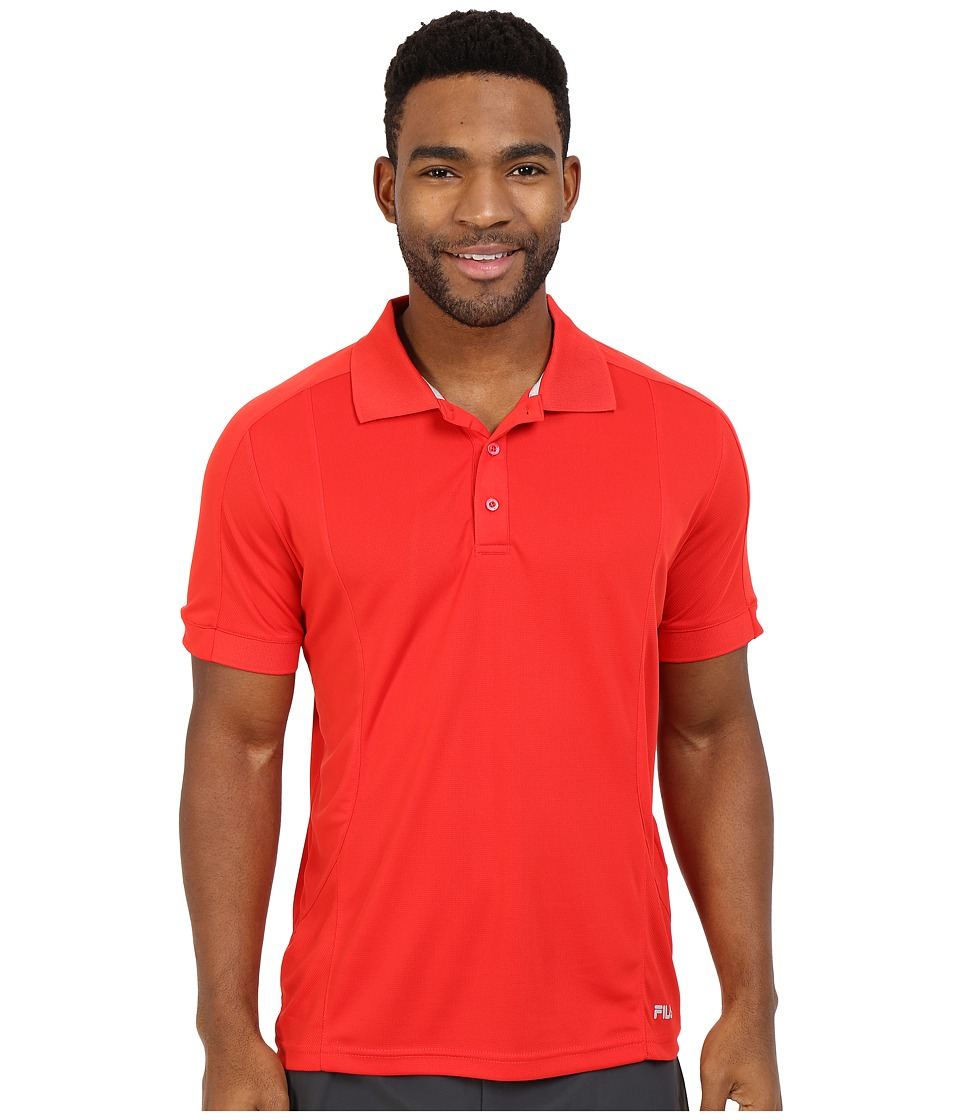 Fila - Bravo Polo (Chinese Red) Men's Short Sleeve Knit