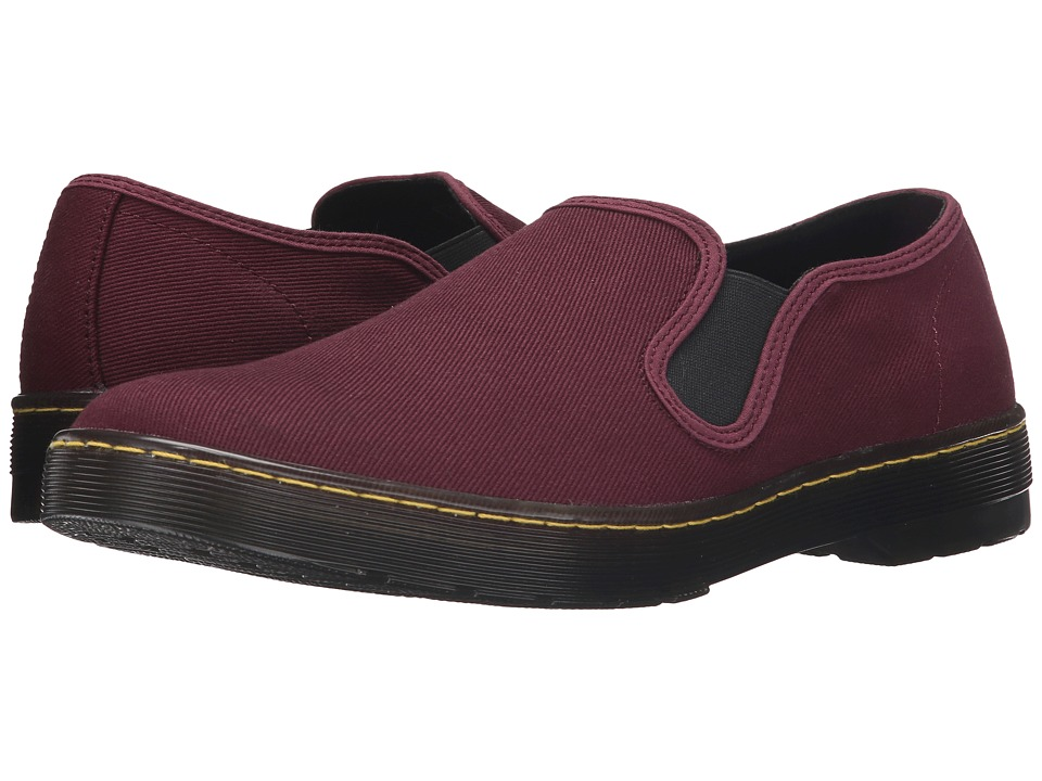 Dr. Martens - Largo Slip-On Shoe (Old Oxblood Overdyed Twill Canvas) Men's Slip on Shoes