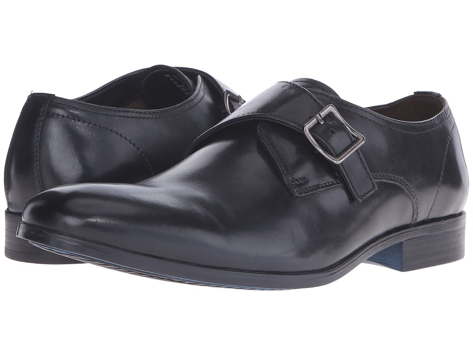 Clarks - Banfield Monk (Black Leather) Men's Plain Toe Shoes