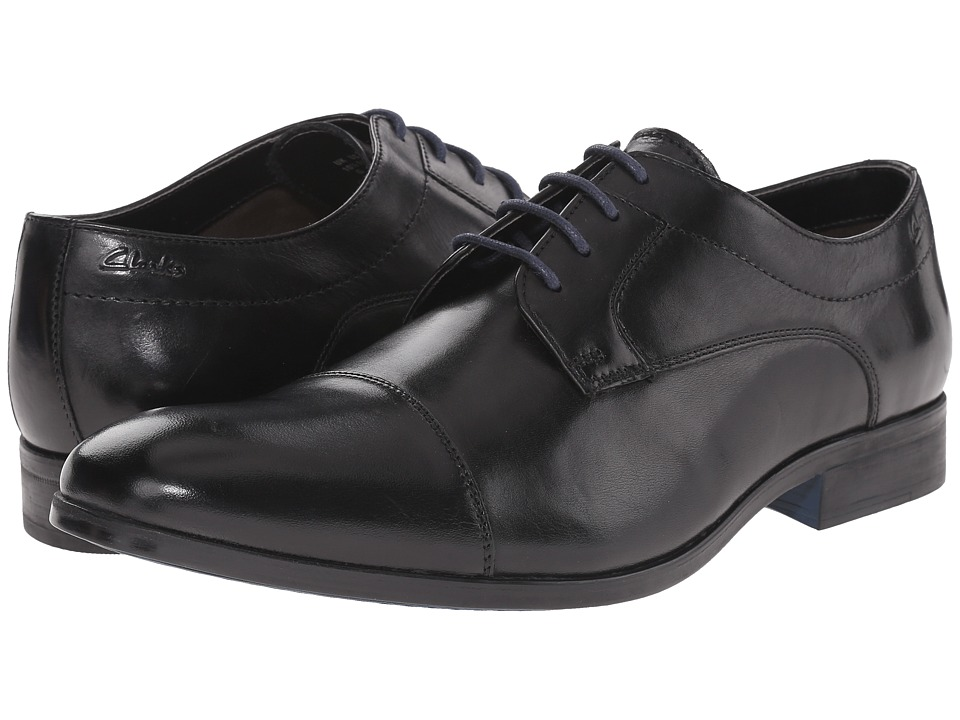 Clarks - Banfield Cap (Black Leather) Men's Lace Up Cap Toe Shoes