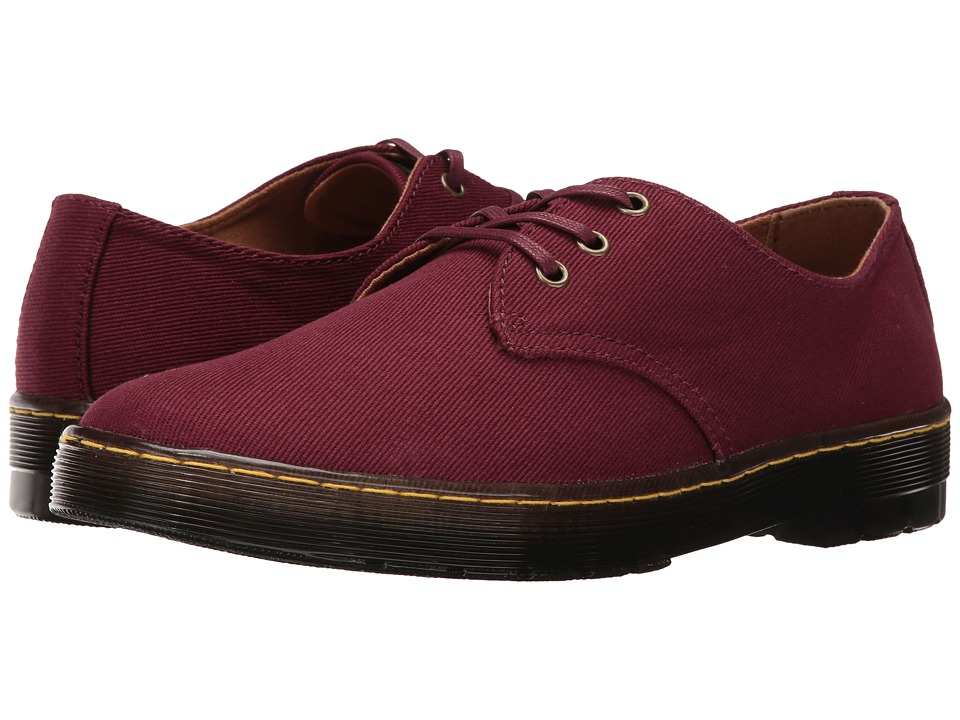 Dr. Martens - Delray 3-Eye (Old Oxblood Overdyed Twill Canvas) Men's Lace up casual Shoes