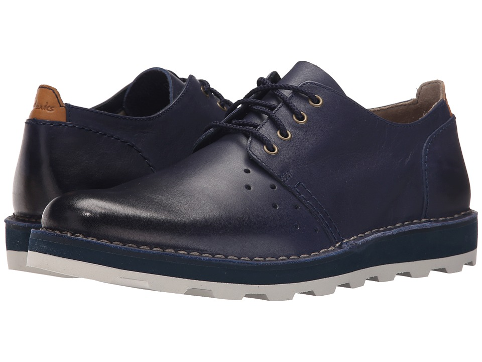 Clarks - Darble Walk (Blue Leather) Men's Lace up casual Shoes