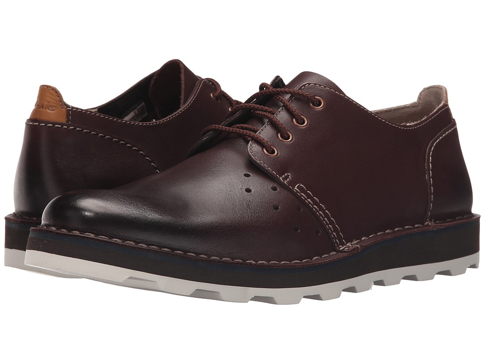 Clarks - Darble Walk (Chestnut Leather) Men's Lace up casual Shoes