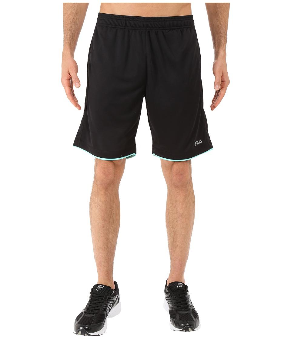 Fila - Focus Shorts (Black/Lucite Green) Men's Shorts