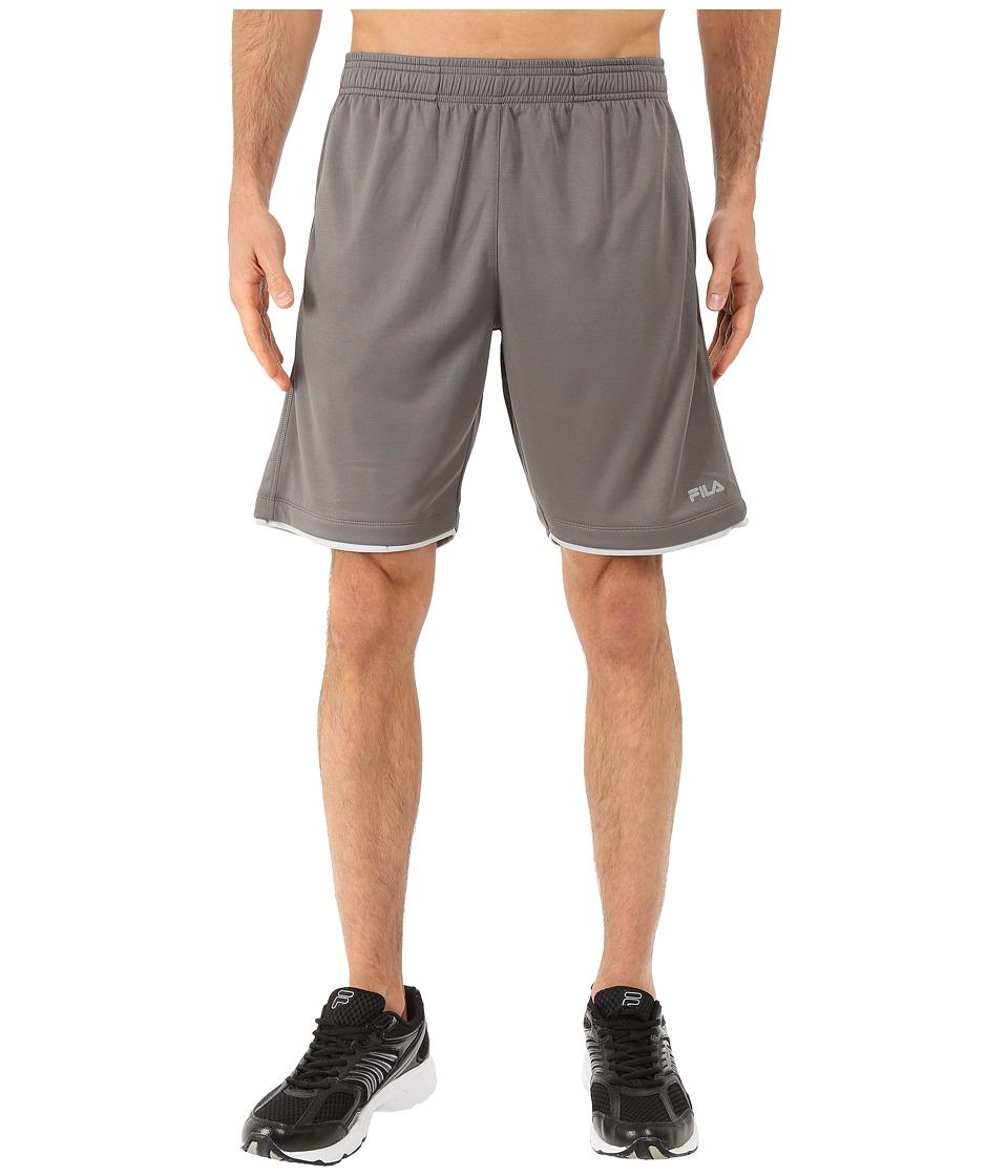 Fila - Focus Shorts (Pewter/High Rise) Men's Shorts