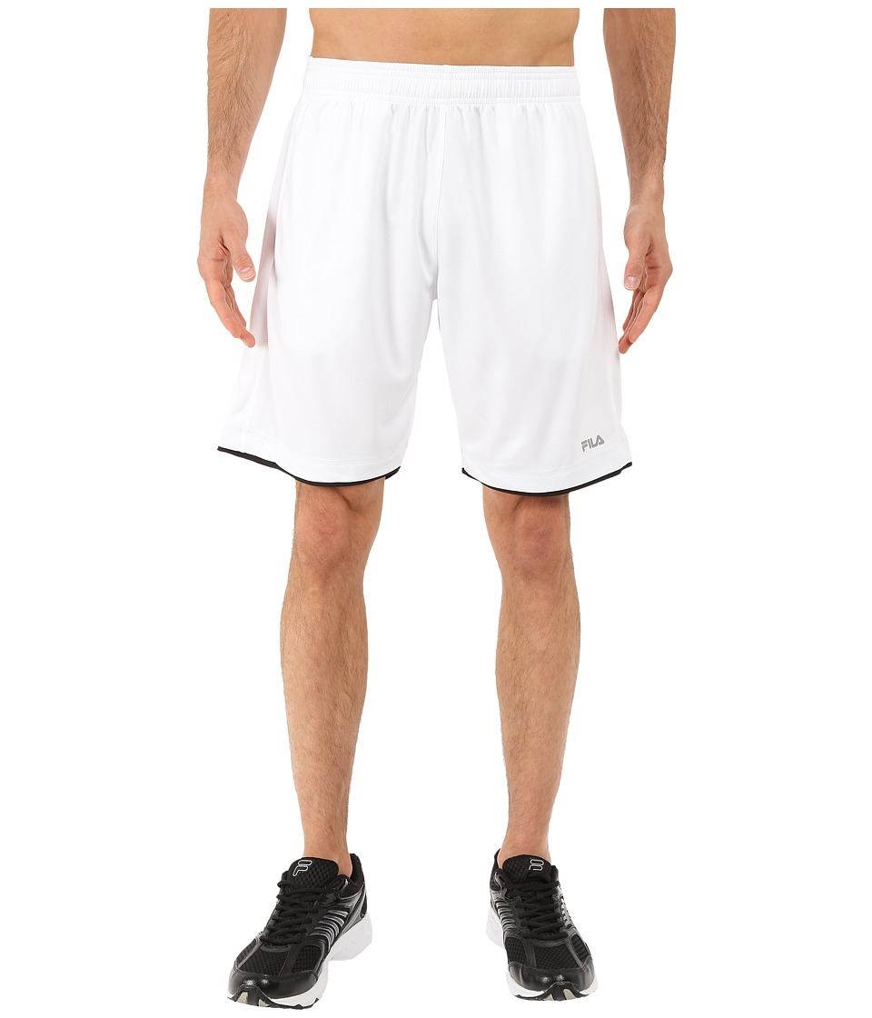 Fila - Focus Shorts (White/Black) Men's Shorts