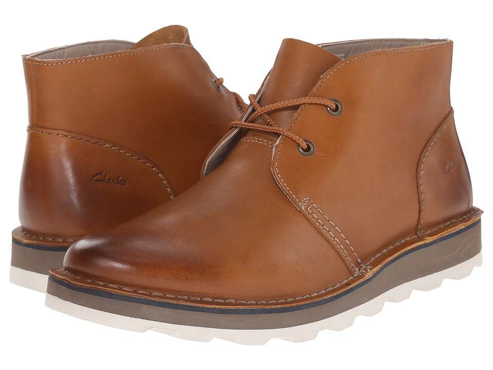 Clarks - Darble Mid (Cognac Leather) Men's Lace-up Boots