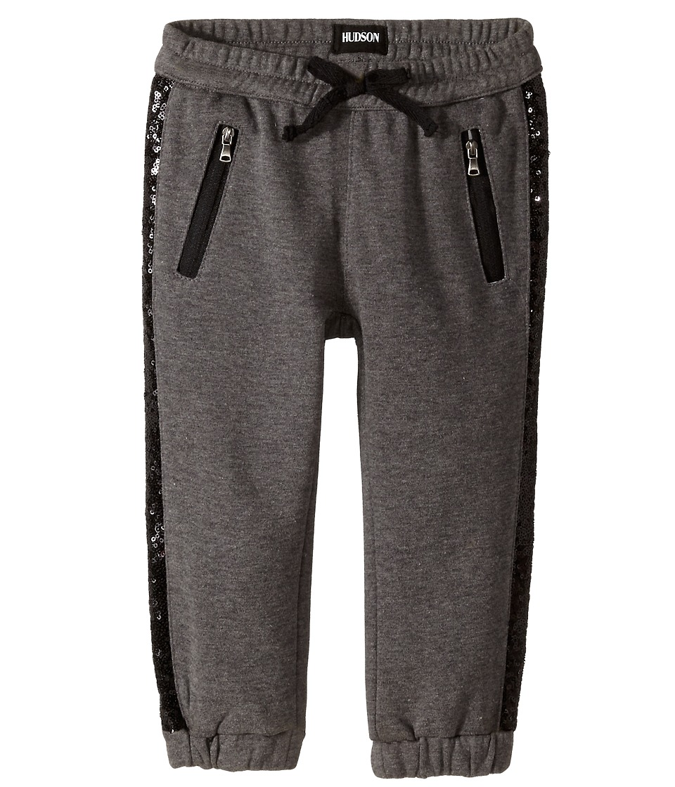Hudson Kids - Wild Thing Jogger Sweatpants in Heather Grey/Black (Toddler/Little Kids) (Heather Grey/Black) Girl's Casual Pants