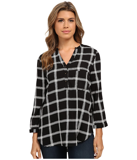 Angie - Print Top (Black/White) Women