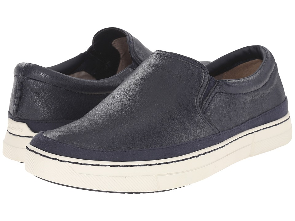 Clarks Ballof Step (Navy Leather) Men