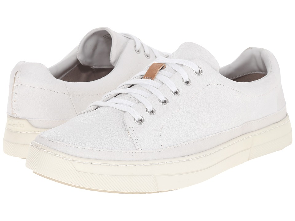Clarks - Ballof Lace (White Leather) Men's Lace up casual Shoes