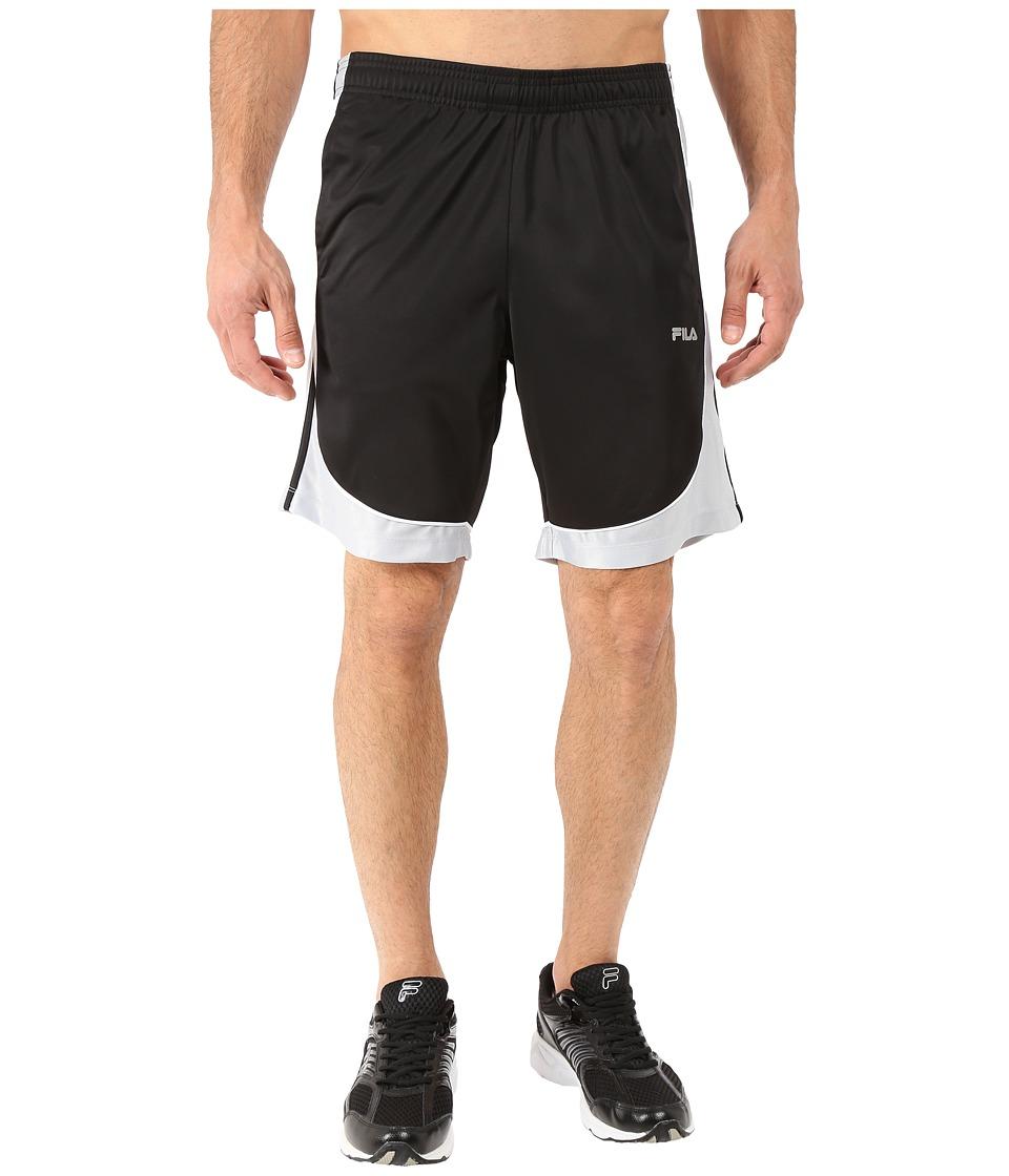 Fila - Wing Man Shorts (Black/High Rise/White) Men's Shorts
