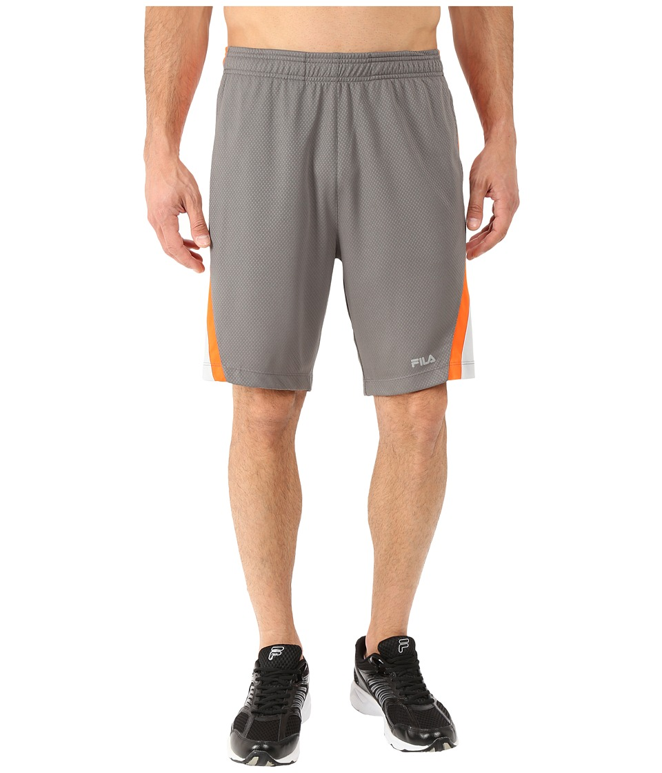 Fila - Pursuit Shorts (Pewter/Cone Orange/High Rise) Men's Shorts