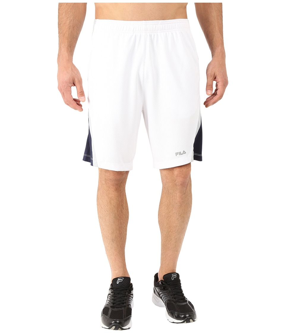 Fila - Pursuit Shorts (White/High Rise/Peacoat) Men's Shorts