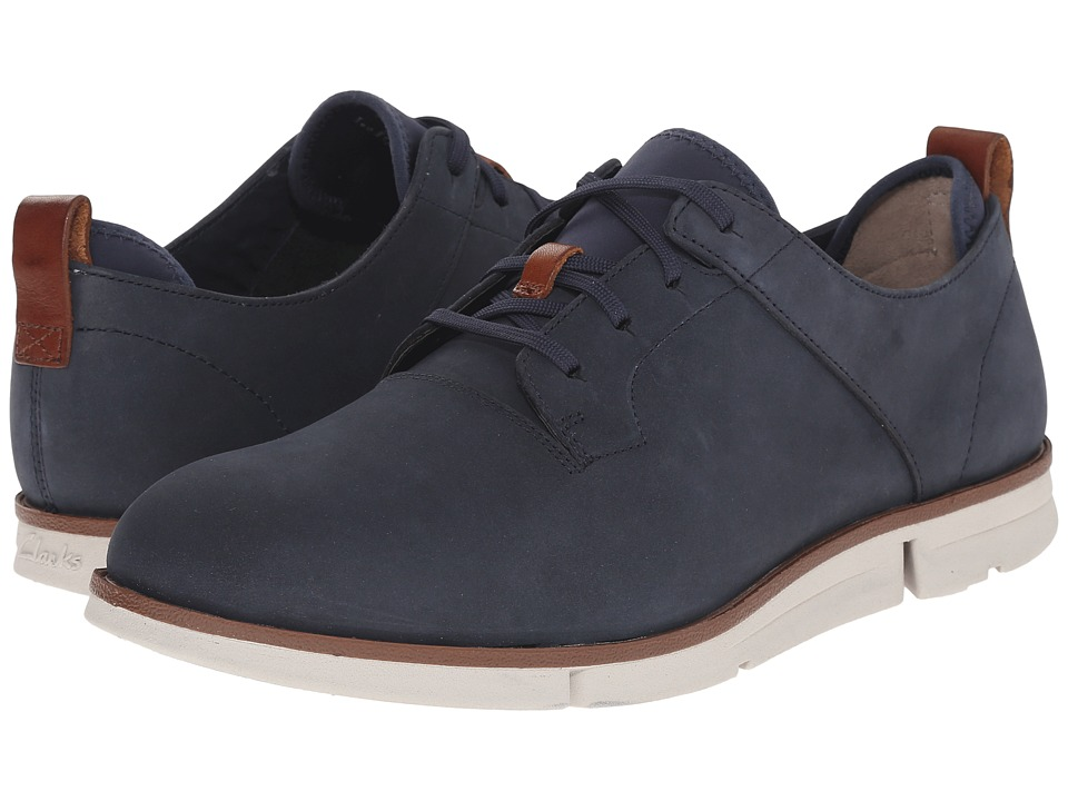Clarks - Trigen Walk (Navy Nubuck) Men's Shoes