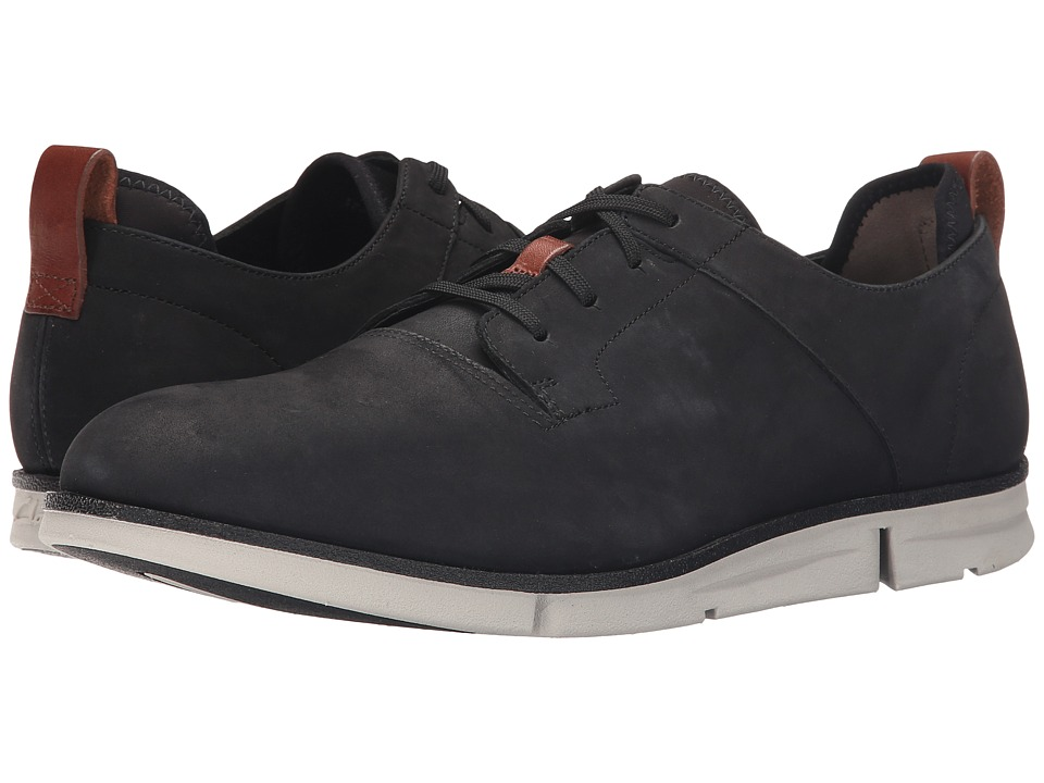 Clarks - Trigen Walk (Black Nubuck) Men's Shoes