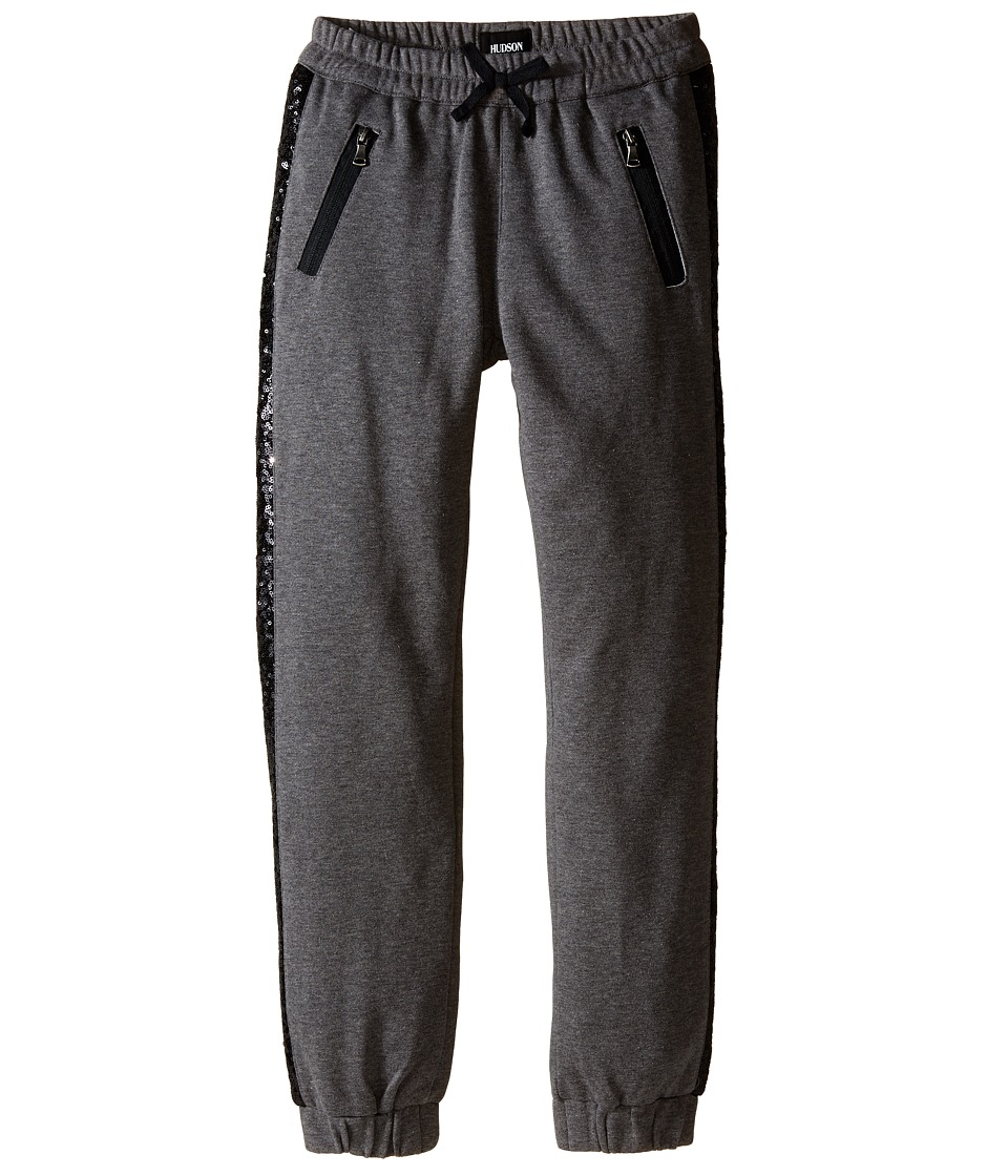 Hudson Kids - Wild Thing Jogger Sweatpants in Heather Grey/Black (Big Kids) (Heather Grey/Black) Girl's Casual Pants
