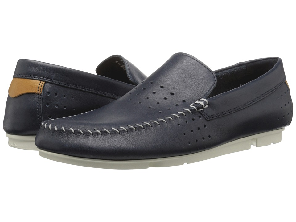 Clarks - Trimocc Sun (Navy Leather) Men