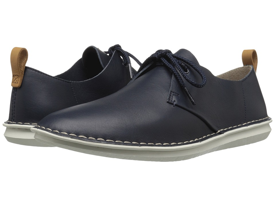 Clarks - Tamho Edge (Navy Leather) Men's Shoes