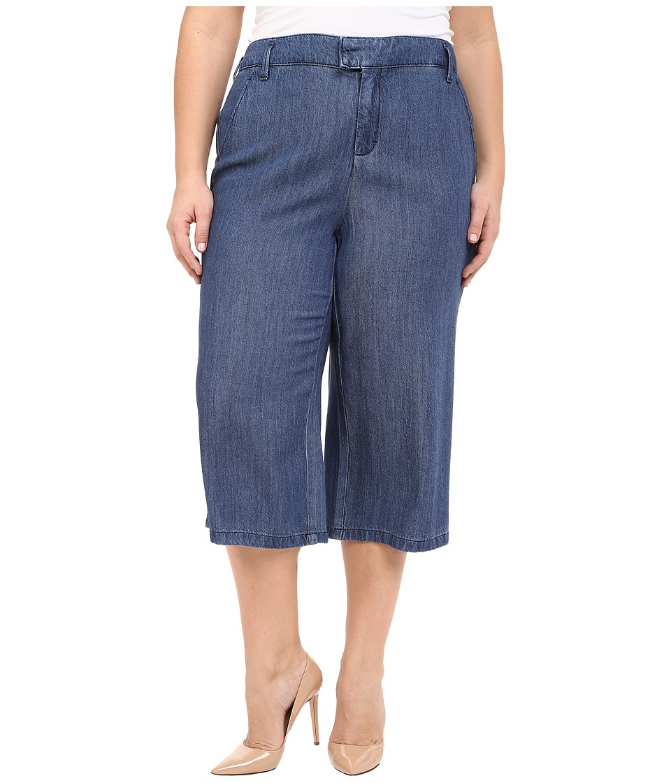 NYDJ Plus Size Plus Size Denim Culotte Pants in Denim (Denim) Women
