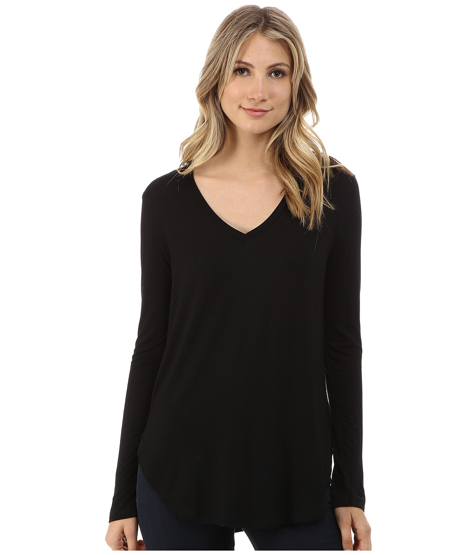 Culture Phit Kierra V-Neck Top (Black) Women's Clothing