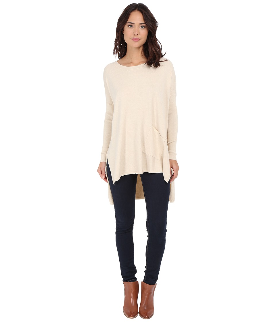 Culture Phit - Cheyenne One-Pocket Sweater (Oatmeal) Women's Sweater