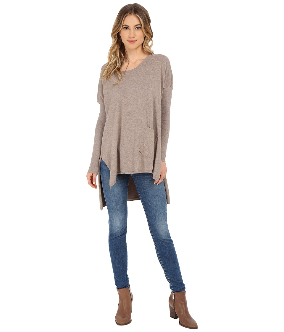 Culture Phit - Cheyenne One-Pocket Sweater (Mocha) Women's Sweater
