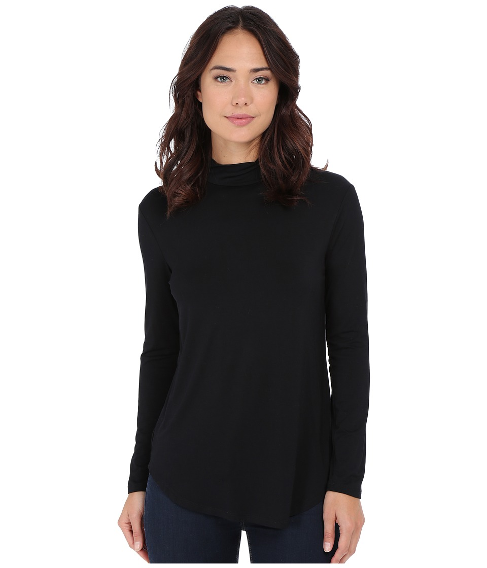 Culture Phit - Hanna Mock Neck Top (Black) Women's Clothing