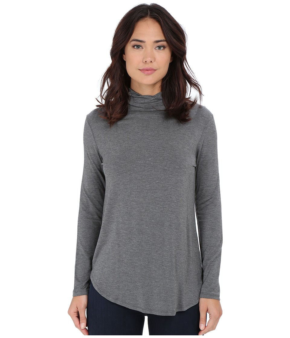 Culture Phit - Hanna Mock Neck Top (Heather Grey) Women's Clothing