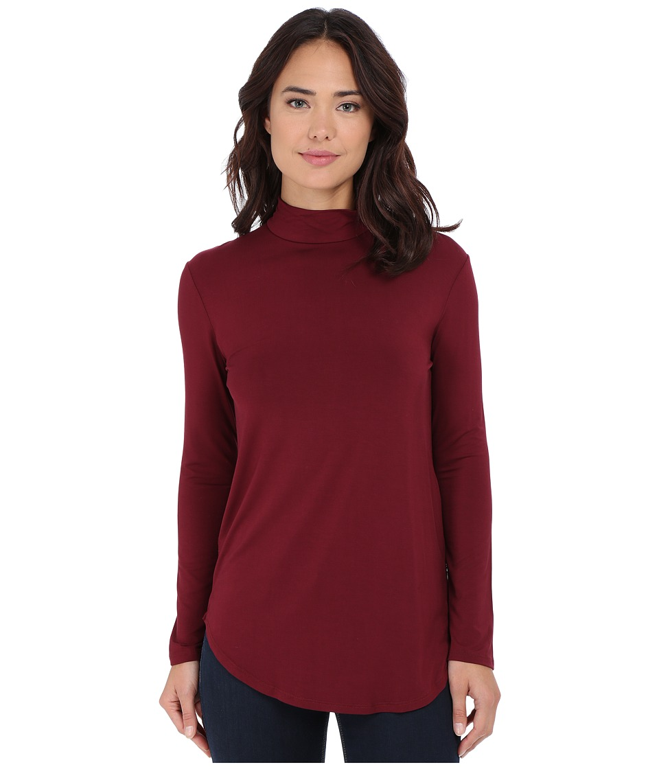Culture Phit - Hanna Mock Neck Top (Wine) Women's Clothing
