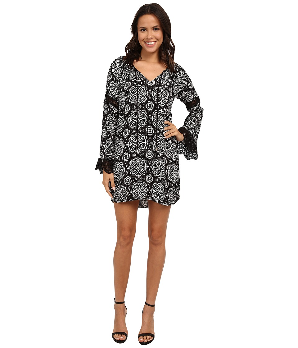 Gabriella Rocha - Abbie Long Sleeve Dress (Black/Cream) Women's Dress