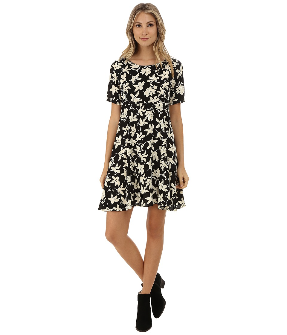 Gabriella Rocha - Raimey Floral Dress (Black/Ivory) Women's Dress