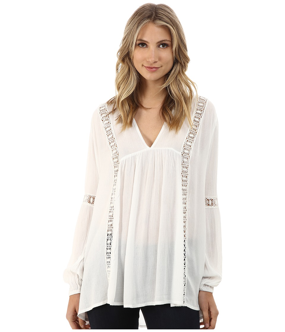 Gabriella Rocha - Giselle Lace Accented Top (White) Women