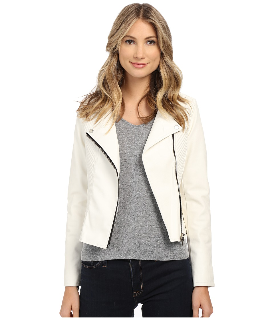 Blank NYC - White Moto Jacket in Play Doctor (Play Doctor) Women's Coat