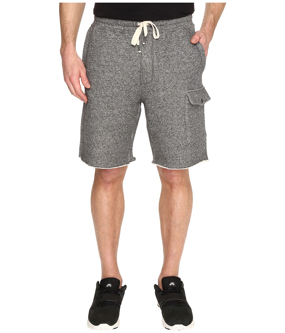 Original Penguin - Elasticated Fleece Gym Shorts (Asphalt) Men's Shorts