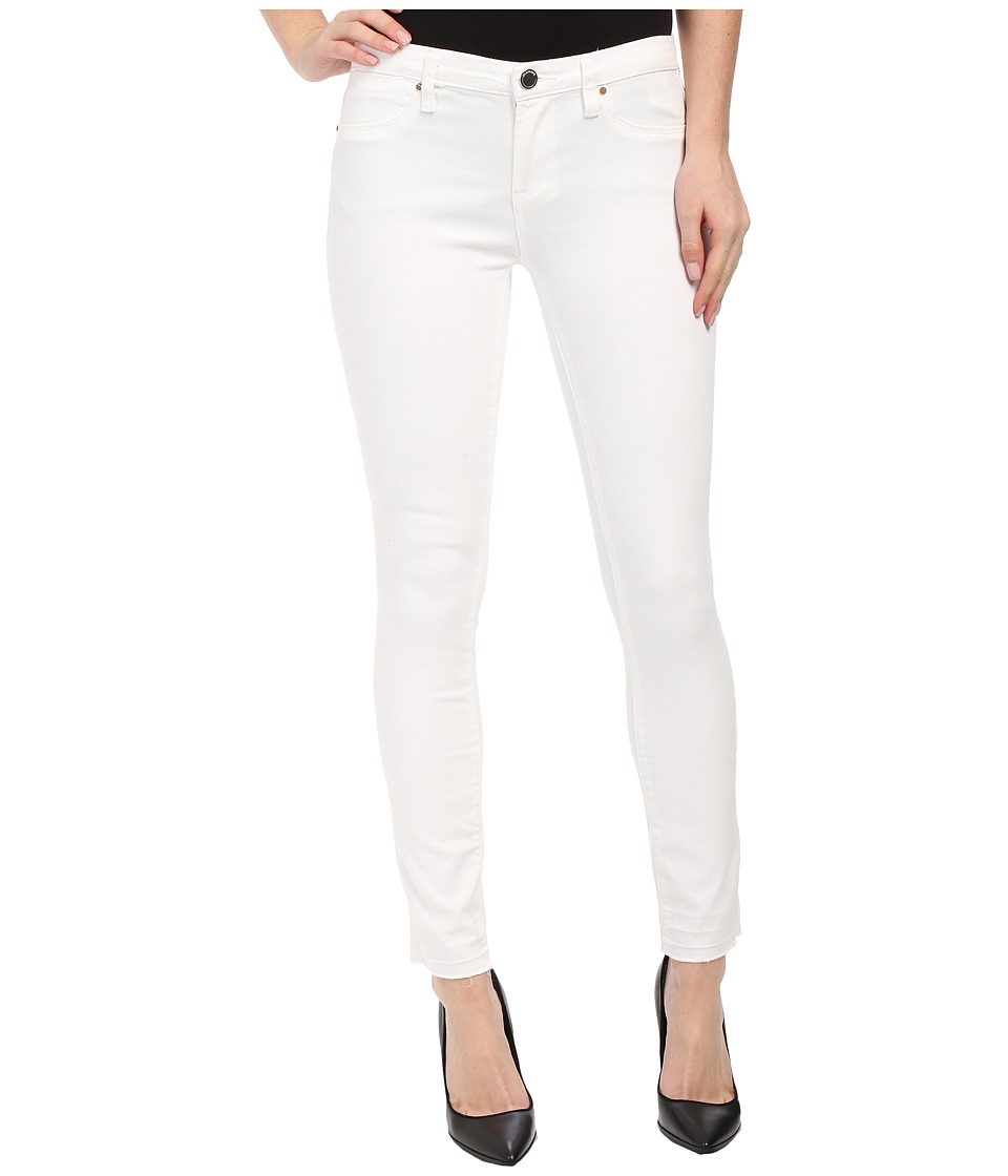 Blank NYC White Crop Skinny in White Lines (White Lines) Women