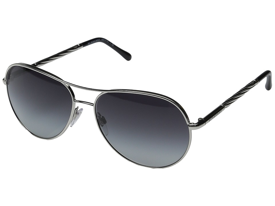 Burberry - 0BE3082 (Silver/Gradient Grey) Fashion Sunglasses