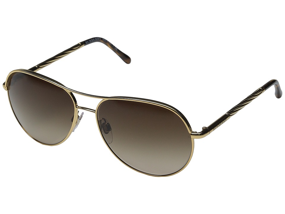 Burberry - 0BE3082 (Gold/Gradient Brown) Fashion Sunglasses