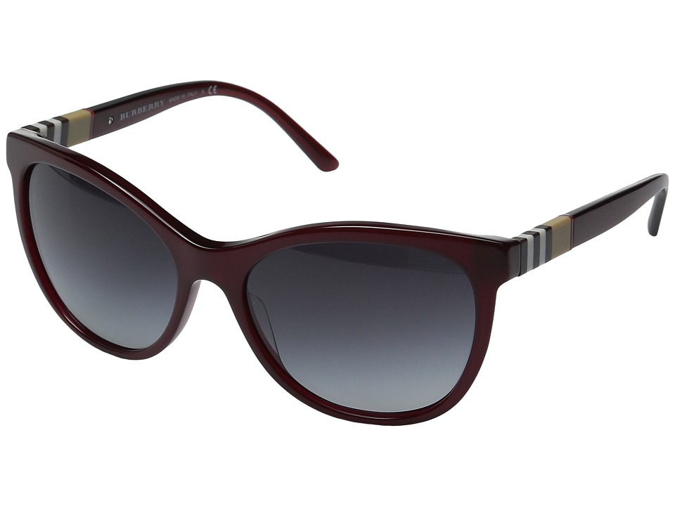 Burberry - 0BE4199 (Dark Red/Gradient Grey) Fashion Sunglasses