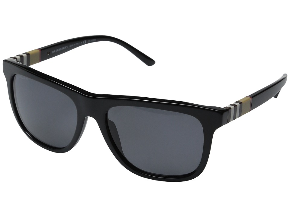 Burberry - 0BE4201 (Black/Polarized Grey) Fashion Sunglasses