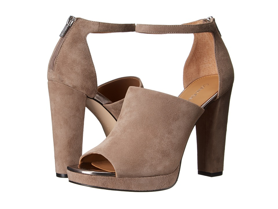 Calvin Klein - Bel (Winter Taupe Suede) High Heels
