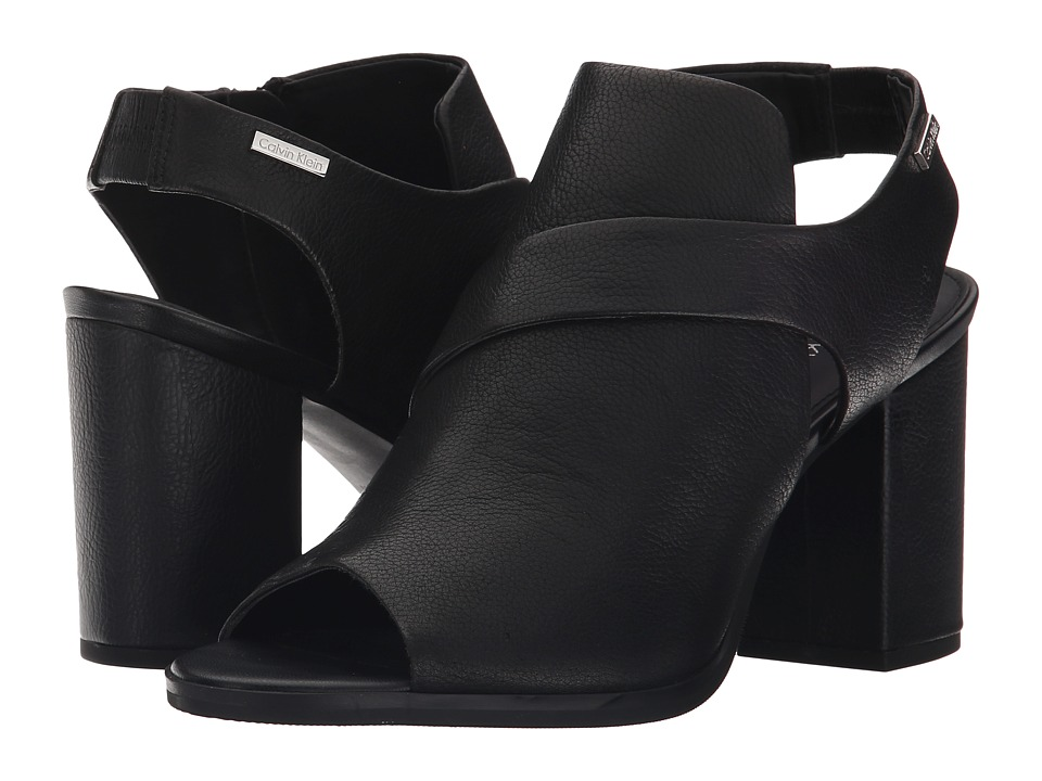 Calvin Klein - Ellcia (Black Toscana Leather) High Heels