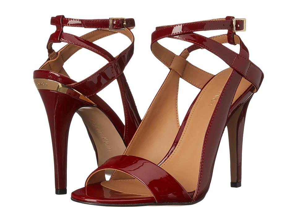 Calvin Klein - Meville (Dark Red Patent) High Heels