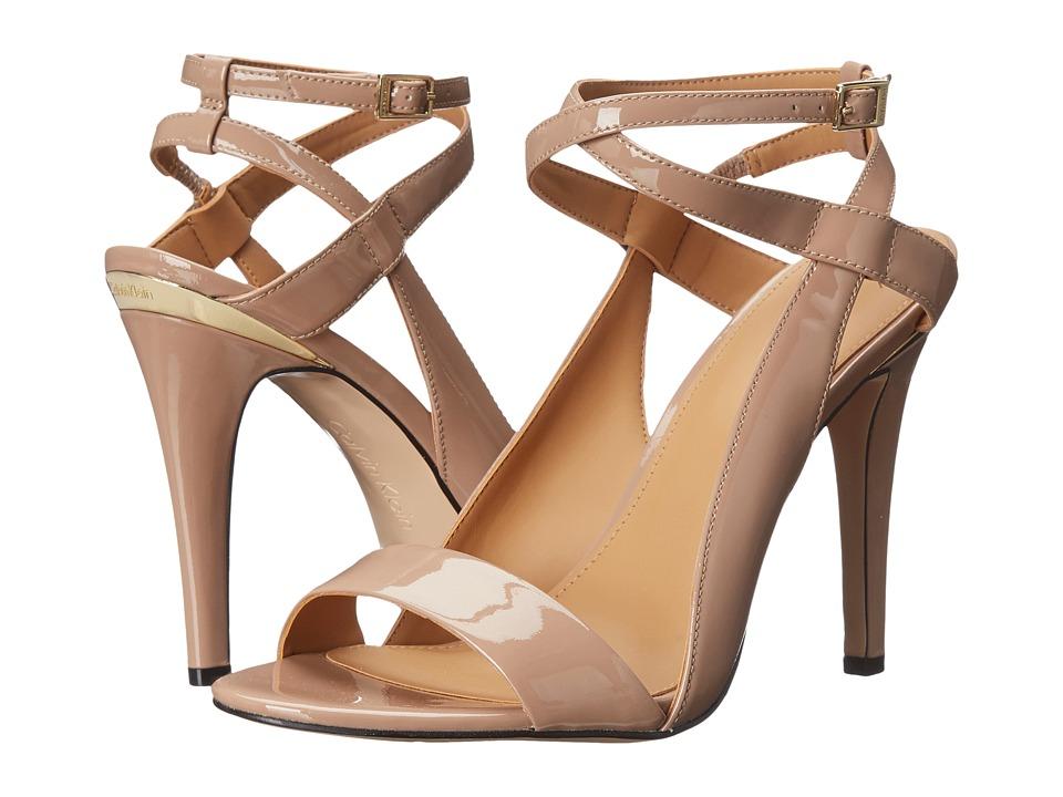 Womens Sandals Calvin Klein Meville Sahara Blush Patent